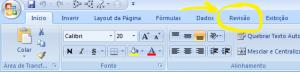Menu Revisão no Excel