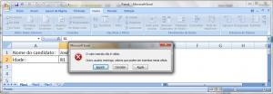 Utilizando a Validação de Dados no MS Excel - Figura 6