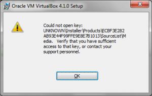 virtualbox-instalacao2 - Corrigindo o Erro 2896 para Atualizar ou Remover o VirtualBox