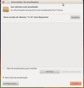 Gerenciador de atualizacões do Ubuntu 11.04